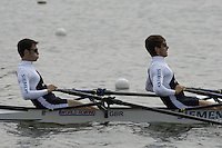 Reading, GREAT BRITAIN, LM2X, left Mark HUNTER and Zac PURCHASE, , GB Rowing 2007 FISA World Cup Team Announcement, at the GB Training centre, Caversham, England on Thur. 26.04.2007  [Photo, Peter Spurrier/Intersport-images] , Rowing course: GB Rowing Training Complex, Redgrave Pinsent Lake, Caversham, Reading