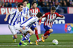 Atletico de Madrid´s Vietto and Real Sociedad´s Mikel during 2015-16 La Liga match between Atletico de Madrid and Real Sociedad at Vicente Calderon stadium in Madrid, Spain. March 01, 2016. (ALTERPHOTOS/Victor Blanco)
