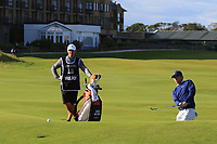 Rory McIlroy (NIR) on the 17th during Round 3 of the Alfred Dunhill Links Championship 2019 at St. Andrews Golf CLub, Fife, Scotland. 28/09/2019.<br /> Picture Thos Caffrey / Golffile.ie<br /> <br /> All photo usage must carry mandatory copyright credit (© Golffile | Thos Caffrey)