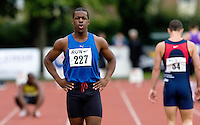 17 JUL 2008 - LOUGHBOROUGH, UK - Leon Baptiste - Heat 3 100m -   Loughborough European Athletics Permit Meeting. (PHOTO (C) NIGEL FARROW)