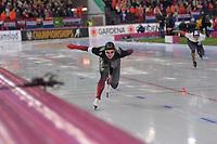 SPEEDSKATING: HAMAR: Vikingskipet, 29-02-2020, ISU World Speed Skating Championships, Sprint, 1000m Men, Laurent Dubreuil (CAN), ©photo Martin de Jong