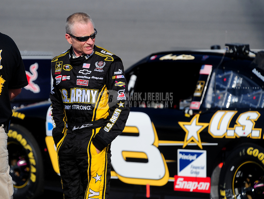 May 2, 2008; Richmond, VA, USA; NASCAR Sprint Cup Series driver Mark Martin during qualifying for the Dan Lowry 400 at the Richmond International Raceway. Mandatory Credit: Mark J. Rebilas-US PRESSWIRE