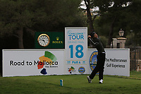 Matthew Jordan (ENG) on the 18th tee during Round 4 of the Challenge Tour Grand Final 2019 at Club de Golf Alcanada, Port d'Alcúdia, Mallorca, Spain on Sunday 10th November 2019.<br /> Picture:  Thos Caffrey / Golffile<br /> <br /> All photo usage must carry mandatory copyright credit (© Golffile | Thos Caffrey)