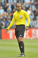Referee Baldomero Toledo..Sporting Kansas City defeated Chivas USA 4-0 at Sporting Park, Kansas City, Kansas.