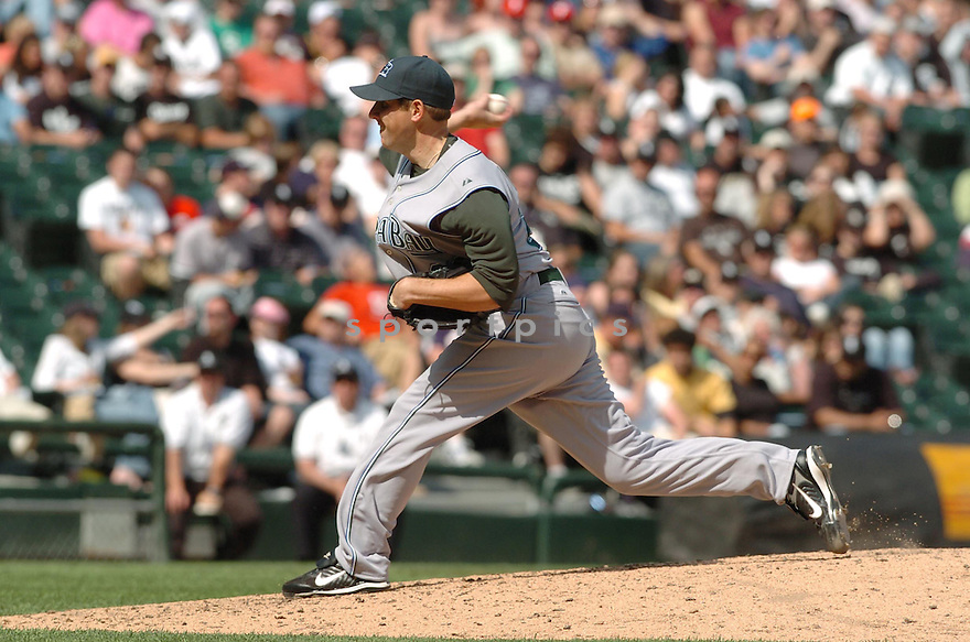 SHAWN CAMP, of the Tampa Bay Devil Rays , in action during the  Devil Rays  game against the Chicago White Sox  in Chicago, IL, on May 27,  2007...Devil Rays  win 11-5...DAVID DUROCHIK / SPORTPICS.