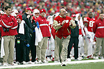 Madison, Wisconsin - 11/15/03. University of Wisconsin head coach Barry Alvarez during the Michigan State game. Wisconsin beat Michigan State 56-21 at Camp Randall Stadium. (Photo by David Stluka)