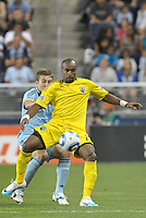 Columbus Crew forwardEmilio Renteria (20)  in action... Sporting Kansas City defeat Columbus Crew 2-1 at LIVESTRONG Sporting Park, Kansas City, Kansas.