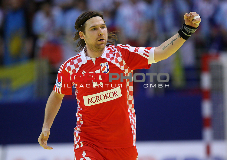 18.01.2012., Millennium Hall, Vrsac, Srbija - 10th men's european handball championship, group D, Slovenia - Croatia. Ivan Cupic. <br /> <br /> Foto &copy;  nph / PIXSELL / Antonio Bronic