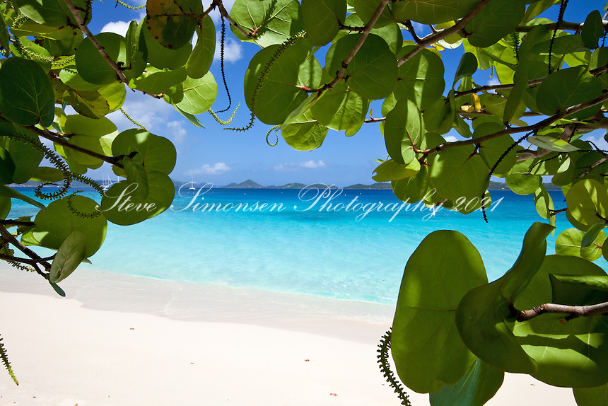 Honeymoon Beach.Virgin Islands National Park.<br /> St John, US Virgin Islands