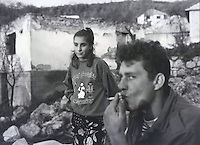 Taking a break from rebuilding in Jusici, Bosnia.