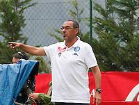 Maurizio Sarri  durante l'amichevole precampionate tra Napoli e Cittadella   Dimaro 29 Luglio 2015<br /> <br /> Friendly soccer match between   SSC Napoli  in Dimaro Italy July 28, 2015