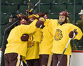 Trent Palm (Duluth - 5) - The University of Minnesota-Duluth Bulldogs practiced on Friday morning, April 8, 2011, during the 2011 Frozen Four at the Xcel Energy Center in St. Paul, Minnesota.