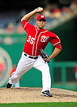 23 September 2010: Washington Nationals pitcher Craig Stammen on the mound against the Houston Astros at Nationals Park in Washington, DC. The Nationals defeated the Astros 7-2 for their third consecutive win, taking the series three games to one. Mandatory Credit: Ed Wolfstein Photo
