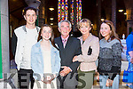 l-r  Tadhg Fleming, Mary Ann Fleming, Derry Fleming, Maureen Fleming and Sadhbh Fleming at the St John's Church Wedding Jubilee Mass on Saturday