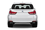 Straight rear view of 2017 BMW X5 xDrive40e 5 Door SUV Rear View  stock images