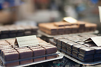 Chocolates for sale in a Parisian chocolatier.