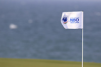 A pinflag on the 9th green during previews ahead of the first round of the NBO Open played at Al Mouj Golf, Muscat, Sultanate of Oman. <br /> 14/02/2018.<br /> Picture: Golffile | Phil Inglis<br /> <br /> <br /> All photo usage must carry mandatory copyright credit (&copy; Golffile | Phil Inglis)