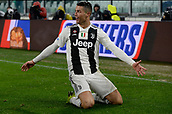 2nd February 2019, Allianz Stadium, Turin, Italy; Serie A football, Juventus versus Parma; Cristiano Ronaldo of Juventus celebrates after scoring the goal for 1-0 for Juventus in the 36th minute