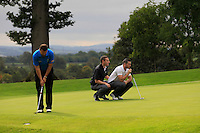 Leo Hassett (Lisselan) on the 9th green during the AIG Jimmy Bruen Shield Final between Lisselan &amp; Waterford in the AIG Cups &amp; Shields at Carton House on Saturday 20th September 2014.<br /> Picture:  Thos Caffrey / www.golffile.ie
