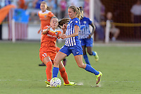 Houston, TX - Sunday Sept. 11, 2016: Andressa Machry, Louise Schillgard during a regular season National Women's Soccer League (NWSL) match between the Houston Dash and the Boston Breakers at BBVA Compass Stadium.