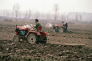 October 1984. Shang Xi province, the motorization of agriculture is making a swift progress.