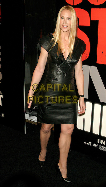 "KELLY LYNCH.New York Premiere of ""Shine A Light"" at the Ziegfeld Theater, New York, NY, USA..March 30th, 2008.full length black leather dress .CAP/LNC/TOM.©TOM/LNC/Capital Pictures."