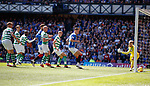 12.05.2019 Rangers v Celtic: James Tavernier's free-kick beats Scott Bain in goals