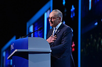 Washington, DC - March 25, 2019: U.S. Senator Chuck Schumer, Senate Democratic Leader, addresses attendees of the 2019 AIPAC Policy Conference held at the Washington Convention Center, March 25, 2019.  (Photo by Don Baxter/Media Images International)
