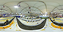 28/07/15<br /> <br /> 360 degree pano.<br /> <br /> Judges search for the winning cheese among 4592 entries at the International Cheese Awards, at the Nantwich Show in Cheshire today.<br /> <br /> All Rights Reserved - F Stop Press.  www.fstoppress.com. Tel: +44 (0)1335 418629 +44(0)7765 242650