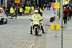 Police motorcyclist.<br /> <br /> Stock photographs for editorial use only.<br /> <br /> Image by: Malcolm McCurrach | New Wave Images UK<br /> Thu, 29, May, 2014