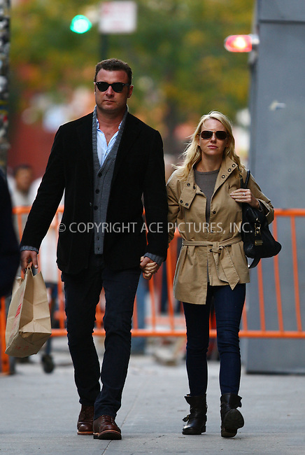 WWW.ACEPIXS.COM . . . . .  ....October 20 2011, New York City....Actors Liev Schreiber and Naomi Watts out in their Noho neighborhood on October 20 2011 in New York City....Please byline: PHILIP VAUGHAN - ACE PICTURES.... *** ***..Ace Pictures, Inc:  ..Philip Vaughan (212) 243-8787 or (646) 679 0430..e-mail: info@acepixs.com..web: http://www.acepixs.com