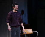 """Brandon Uranowitz during the Broadway Opening Night Curtain Call for Landford Wilson's """"Burn This""""  at Hudson Theatre on April 15, 2019 in New York City."""