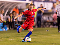 PHILADELPHIA, PA - AUGUST 29: Emily Sonnett #14 of the United States crosses the ball during a game between Portugal and the USWNT at Lincoln Financial Field on August 29, 2019 in Philadelphia, PA