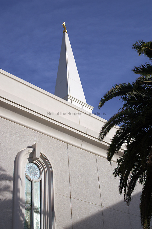 View of Moroni at Orlando LDS Temple