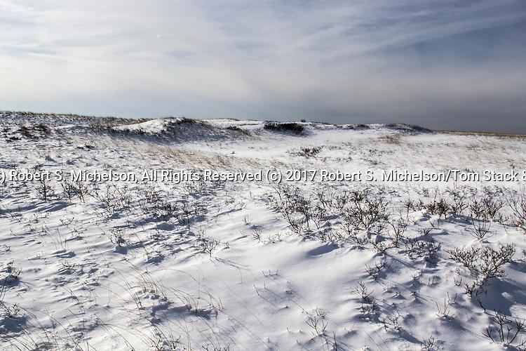 Monomoy National Wildlife Refuge Landscapes during Winter