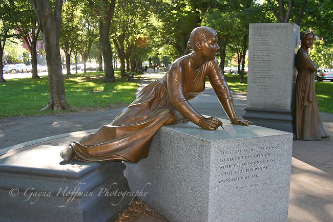 Statues of Lucy Stone and Abigail Adams, The Women's Heritage Trail, Boston, MA