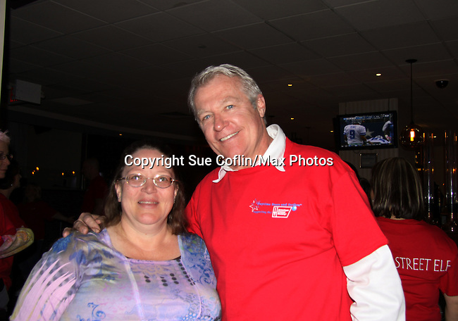 One Life To Live's Jerry ver Dorn with Vikki at The Seventh Annual Daytime Stars and Strikes benefitting The American Cancer Society hosted by Elizabeth Keifer and Jerry VerDorn with actors from One Life To Live, All My Children, As The World Turns and Guiding Light on October 9, 2010 in New York City, New York. (Photo by Sue Coflin/Max Photos)