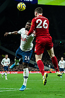 Liverpool's Andy Robertson battles for possession with Tottenham's Serge Aurier<br /> <br /> Photographer Stephanie Meek/CameraSport<br /> <br /> The Premier League - Tottenham Hotspur v Liverpool - Saturday 11th January 2020 - Tottenham Hotspur Stadium - London<br /> <br /> World Copyright © 2020 CameraSport. All rights reserved. 43 Linden Ave. Countesthorpe. Leicester. England. LE8 5PG - Tel: +44 (0) 116 277 4147 - admin@camerasport.com - www.camerasport.com