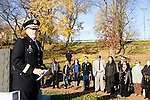 Major General Colt & The Color Guard at the 77th Memorial Grave at Ft. Totten.