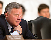 United States Senator Richard Burr (Republican of North Carolina), Chairman, US Senate Select Committee on Intelligence, listens as witnesses are questioned during an open hearing to examine worldwide threats on Capitol Hill in Washington, DC on Tuesday, February 9, 2016.<br /> Credit: Ron Sachs / CNP