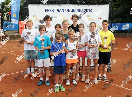 2014-09-07 / Tennis / seizoen 2014 / Feest van de jeugd / De finalisten uit de provincie Oost-Vlaanderen<br /><br />Foto: Mpics.be