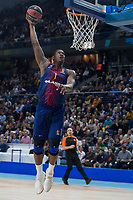 FC Barcelona Lassa Kevin Seraphin during Turkish Airlines Euroleague match between Real Madrid and FC Barcelona Lassa at Wizink Center in Madrid, Spain. December 14, 2017. (ALTERPHOTOS/Borja B.Hojas) /NortePhoto.com NORTEPHOTOMEXICO