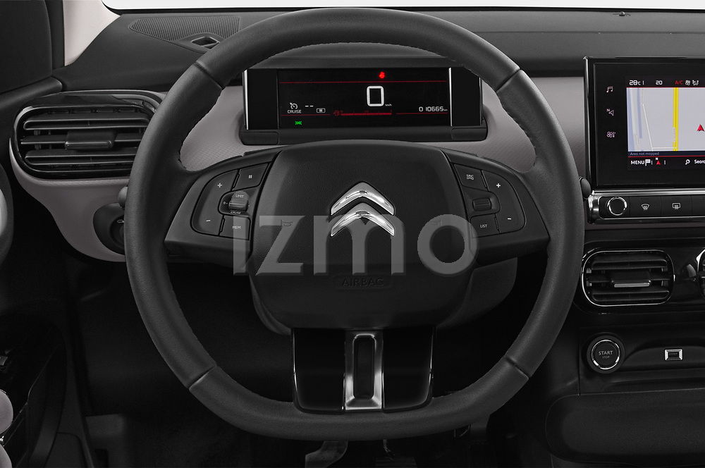 Car pictures of steering wheel view of a 2018 Citroen C4 Cactus Shine 5 Door SUV