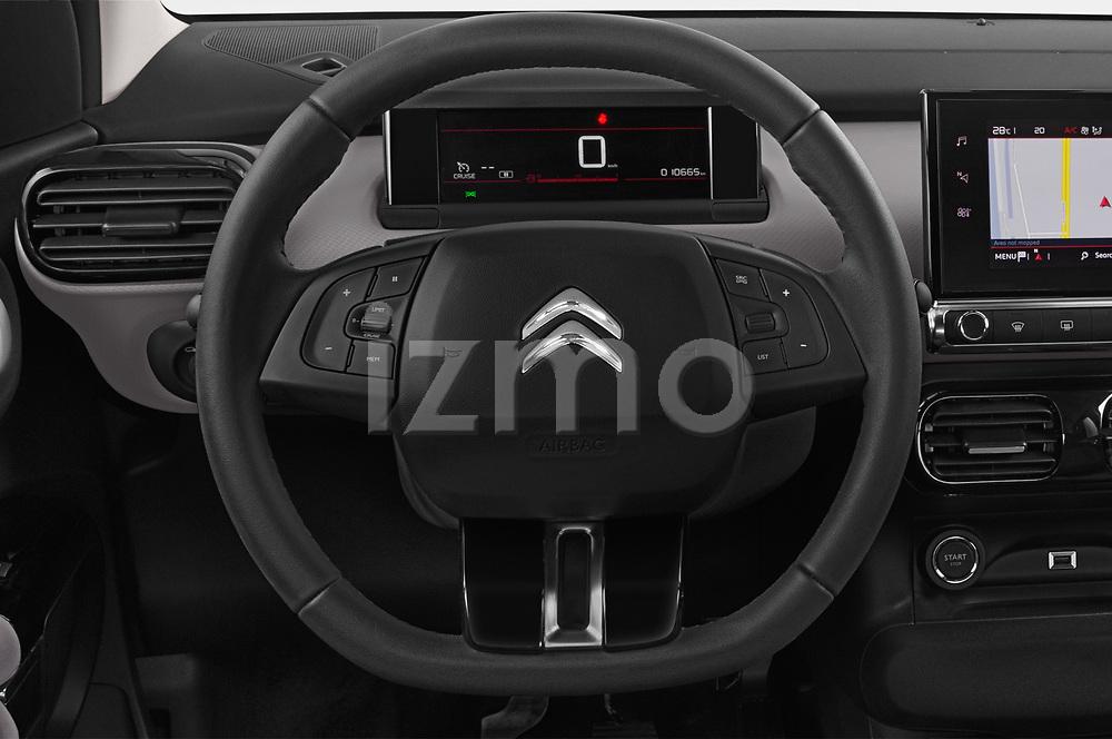 Car pictures of steering wheel view of a 2018 Citroen C4 Cactus Shine 5 Door SUV