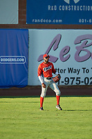 Torii Hunter (2) of the Orem Owlz on defense against the Ogden Raptors in Pioneer League action at Lindquist Field on June 27, 2017 in Ogden, Utah. Ogden defeated Orem 14-5. (Stephen Smith/Four Seam Images)