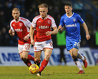Kyle Dempsey of Fleetwood Town on the ball during the Sky Bet League 1 match between Gillingham and Fleetwood Town at the MEMS Priestfield Stadium, Gillingham, England on 27 January 2018. Photo by David Horn.