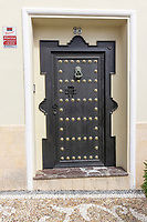Ornate, and very secure, door, house, old town, casco antiguo, Estepona, Spain, March, 2019, 201903080478<br /><br />Copyright Image from Victor Patterson, Belfast, UK, BT9 5HG<br /><br />t: +44 28 9066 1296 <br />(from Rep of Ireland 048 9066 1296) <br />m: +44 7802 353836 <br />victorpattersonbelfast@gmail.com <br />www.victorpatterson.com<br /><br />Please see my Terms and Conditions of Use at https://www.victorpatterson.com/page2 <br /><br />It is IMPORTANT that you familiarise yourself with them.<br /><br />Images used on the Internet incur an additional cost and must be visibly watermarked i.e. © Victor Patterson within the body of the image and copyright metadata must not be deleted. Images used on the Internet have a size restriction of 4kbs and are chargeable at rates available at victorpatterson.com.<br /><br />This image is only available for the use of the download recipient i.e. television station, newspaper, magazine, book publisher, etc, and must not be passed on to any third party. It is also downloaded on condition that each and every usage is notified within 7 days to victorpattersonbelfast@gmail.com<br /><br />The right of Victor Patterson to be identified as the author is asserted in accordance with The Copyright Designs And Patents Act (1988). All moral rights are asserted.