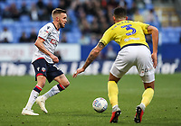 Bolton Wanderers' Craig Noone competing with Blackburn Rovers' Derrick Williams<br /> <br /> Photographer Andrew Kearns/CameraSport<br /> <br /> The EFL Sky Bet Championship - Bolton Wanderers v Blackburn Rovers - Saturday 6th October 2018 - University of Bolton Stadium - Bolton<br /> <br /> World Copyright &copy; 2018 CameraSport. All rights reserved. 43 Linden Ave. Countesthorpe. Leicester. England. LE8 5PG - Tel: +44 (0) 116 277 4147 - admin@camerasport.com - www.camerasport.com