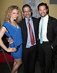 Lauren Molina, Director Jonathan Silverstein and Jason Tam attend the opening night performance reception for the Keen Company production of Marry Me A Little at the Clurman Theatre in New York City on10/2/2012.