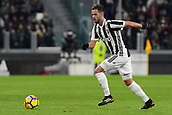 9th December 2017, Allianz Stadium, Turin, Italy; Serie A football, Juventus versus Inter Milan; Miralem Pjanic on the ball